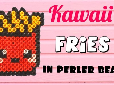 Kawaii Fries Perler Bead Creation Tutorial
