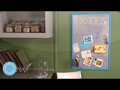 Magnetic Chalkboard Bulletin Board - DIY Style - Martha Stewart