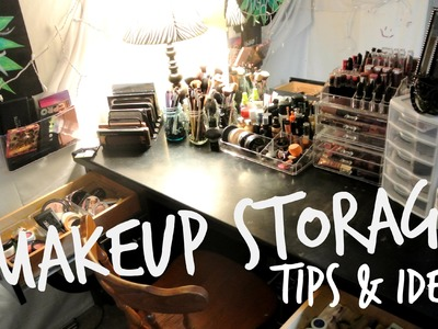 My Makeup Storage! Ideas, Tips & Tricks for Makeup Addicts!