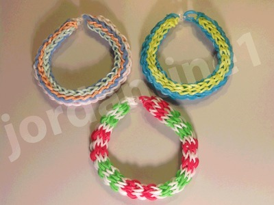 New Rainbow Loom Long Cross Chain Link Bracelet