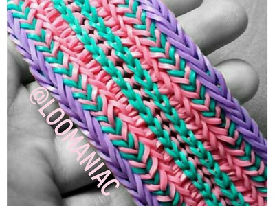 New! Split Tire Track Bracelet On Rainbow Loom
