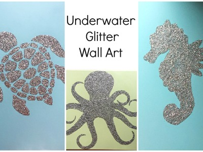 Nursery Decor: Glitter Wall Art ♡ {Art for the Non-Artist} ♡ Jessica Joaquin