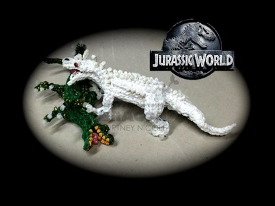 Part 1.4 Rainbow Loom Indominus Rex from Jurassic World (1 Loom)
