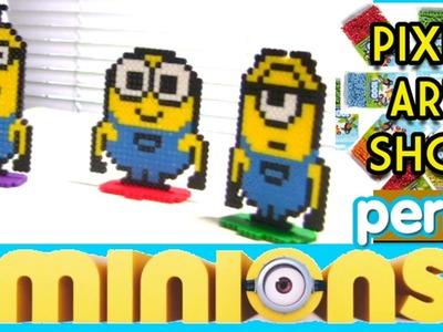 Perler Bead Freestanding Minions - Pixel Art Show