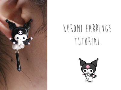 Polymer Clay Earrings Tutorial: Kuromi from Sanrio