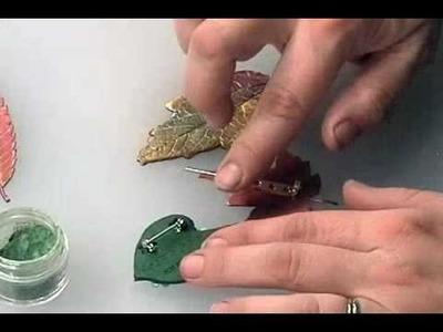 Polymer Clay Leaf Pin Part 2