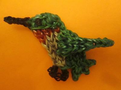 Rainbow Loom Bird Charm: Ruby Throated Hummingbird