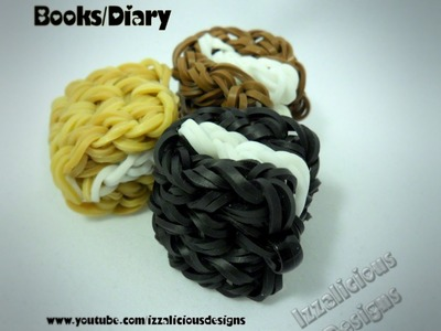 Rainbow Loom Book.Diary Charm Tutorial