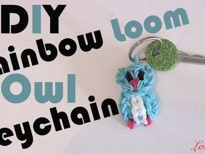 Rainbow Loom Denmark - Owl Keychain (Easy Tutorial)