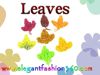 Rainbow Loom Leaves Charm.Fall.Autumn - How to Loom bands