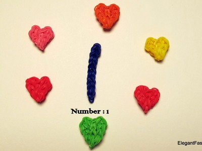 Rainbow Loom Number 1 Charm - How to
