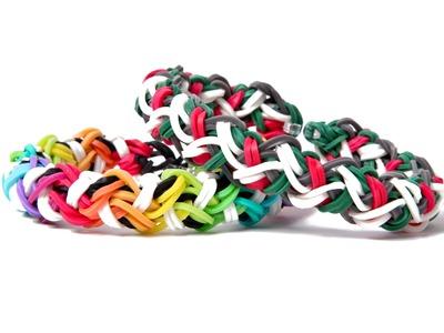 Rainbow Loom Zig Zag Braid - Advanced Bracelet- Requires 2 Looms