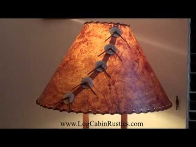 Rustic Lamp Shade - Country Rice Paper Lamp Shades made in America