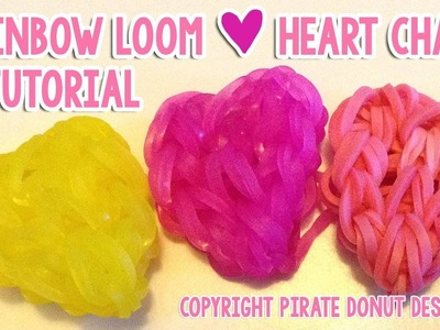 Simple CUTE Heart Charm Rainbow Loom Tutorial Valentine's Day