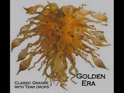 1020 Glass Art Nova Hand Blown Glass Chandelier Collection