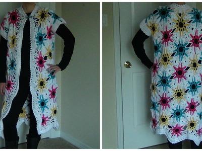 Crocheted Flower Jacket Part 1