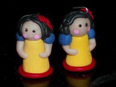 Disney Princess inspired Chibi dolls.  Polymer Clay dolls Cinderella, Ariel, Belle. .