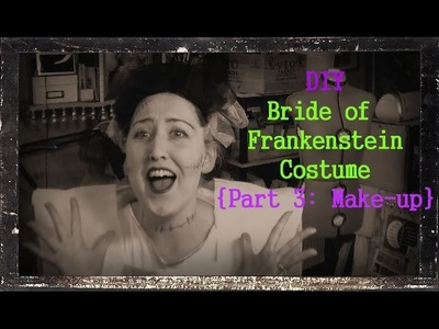 DIY Bride of Frankenstein Make Up Tutorial