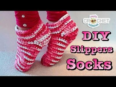 Easy Crochet Adult Slipper Socks