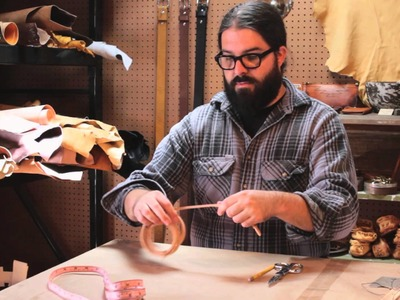 How to Finish Fitting When Making Leather Bracelets : Working With Leather