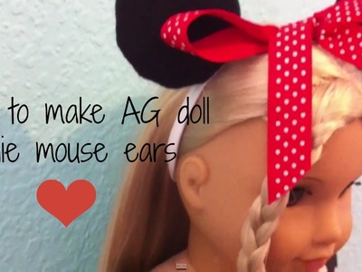 How To Make AG Doll Minnie Mouse Ears