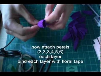How to make paper flower peony