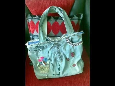 Make a Jeans Handbag-How To Make Bag  From Old Jeans