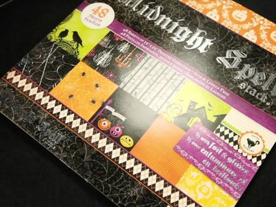 Die Cuts With A View - Midnight Spell Scrapbook Paper