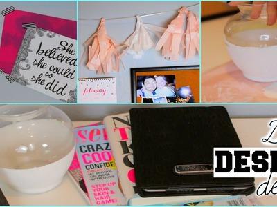 DIY Pinterest Inspired Desk Decor & Organization Tips | Kenzie Elizabeth