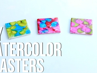 DIY Watercolor Table Coasters with The Blend TV
