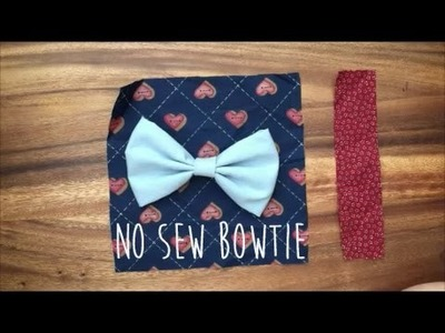How To Make A No Sew Clip On Bow Tie