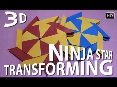 How To Make Origami 3D Transforming Ninja Star - 8 Pointer | Traditional Paper Toy
