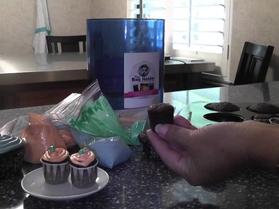 Mini Cupcakes baked in paper ketchup cups