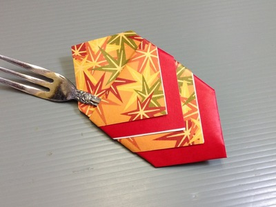 Momiji Autumn Leaves Origami Pattern Paper - Make a Silverware Holder