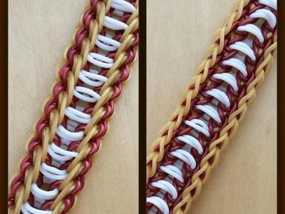 """New """"Decrescendo"""" Rainbow Loom Bracelet.How To"""