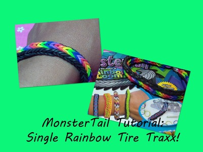 New!! Monster Tail Loom Tutorial: Single Rainbow Fishtail Bracelet!