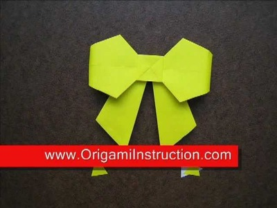 Paper Folding Origami Bow Tie