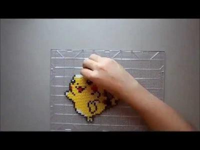 Pikachu Perler Bead Time Lapse
