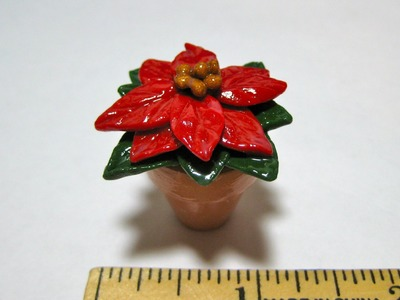 Poinsettia (XMAS Tree) - Miniature Polymer Clay