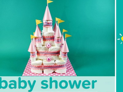 Princess Baby Shower Ideas: Castle Diaper Cake | Pampers