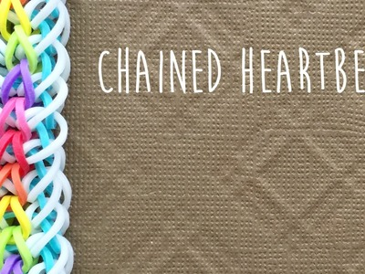 Rainbow loom bands chained heart beat tutorial