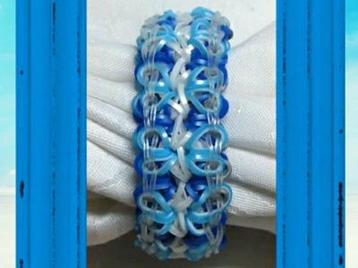 "Rainbow Loom Bracelet - Original Design - ""HEART & SOUL""  (ref # 4uu)"