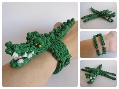 Rainbow Loom crocodile bracelet Loombicious