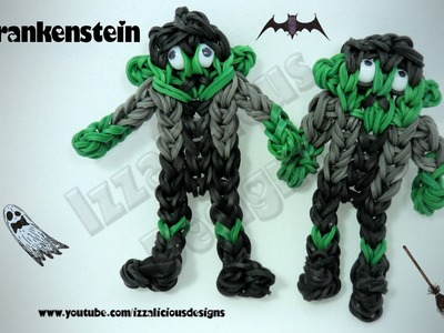 Rainbow Loom (Halloween) Frankenstein Charm.Action Figure - Gomitas