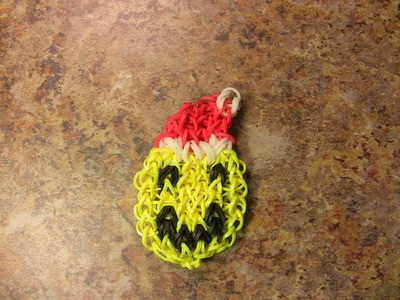 Smiley Face (Happy Face) Santa Rainbow Loom Holiday Bracelet