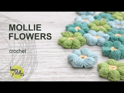 Tutorial Mollie Flowers Crochet in English