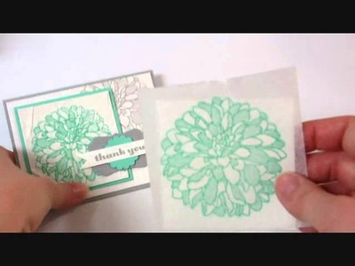 Faux Silk Technique with Stampin' Up! Creped Filter Paper