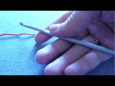 How to hold the hook for crocheting