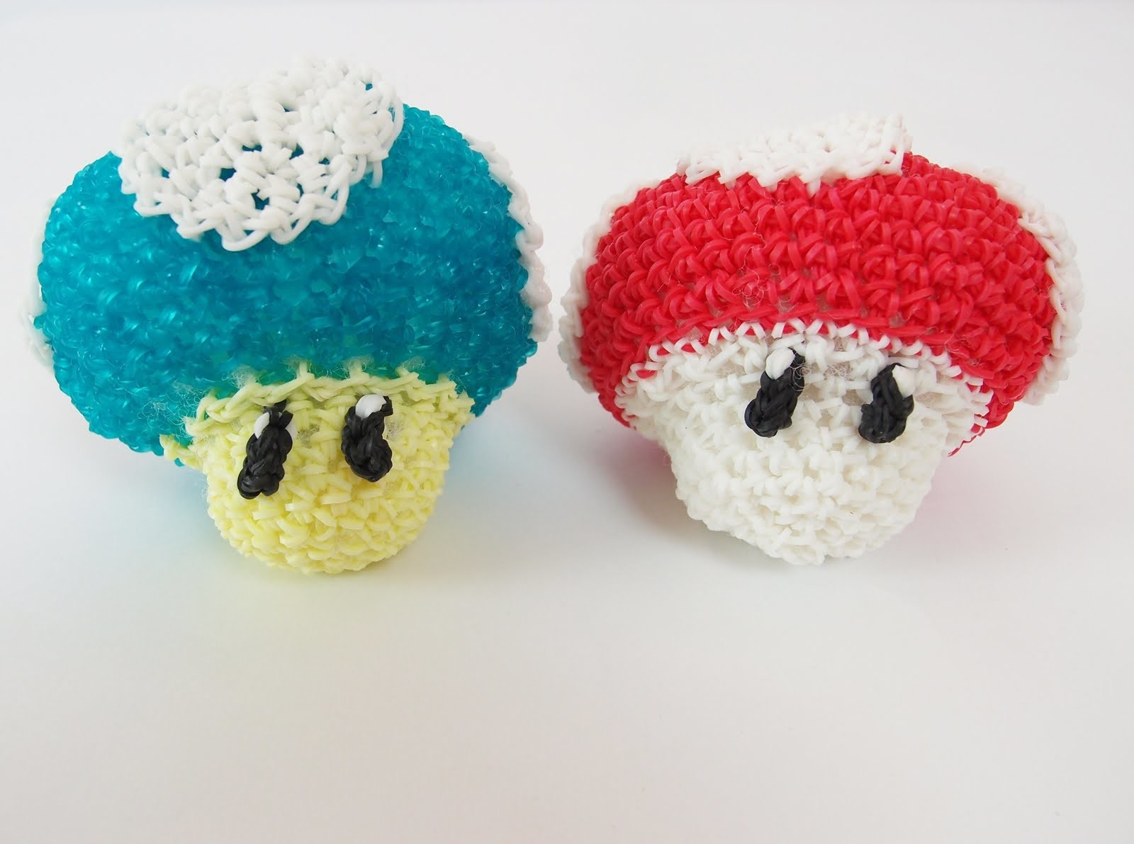 Mario Mushroom Mario Bros Rainbow Loom Bands Amigurumi Loomigurumi Hook Only Tutorial