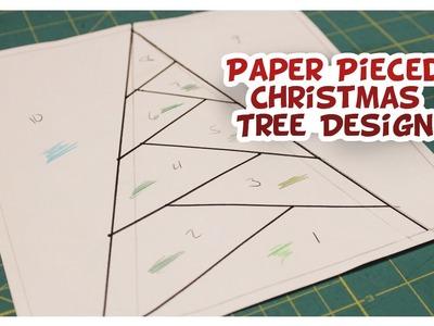 Paper Pieced Christmas Tree Design - Whitney Sews